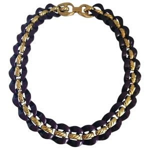 Vtg Wide Curb Link Necklace by Napier in EUC